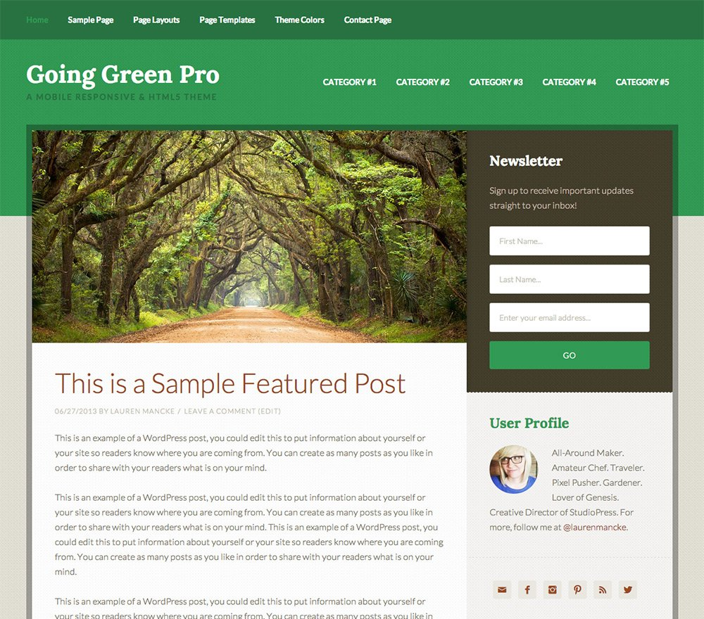 Going Green Pro Theme