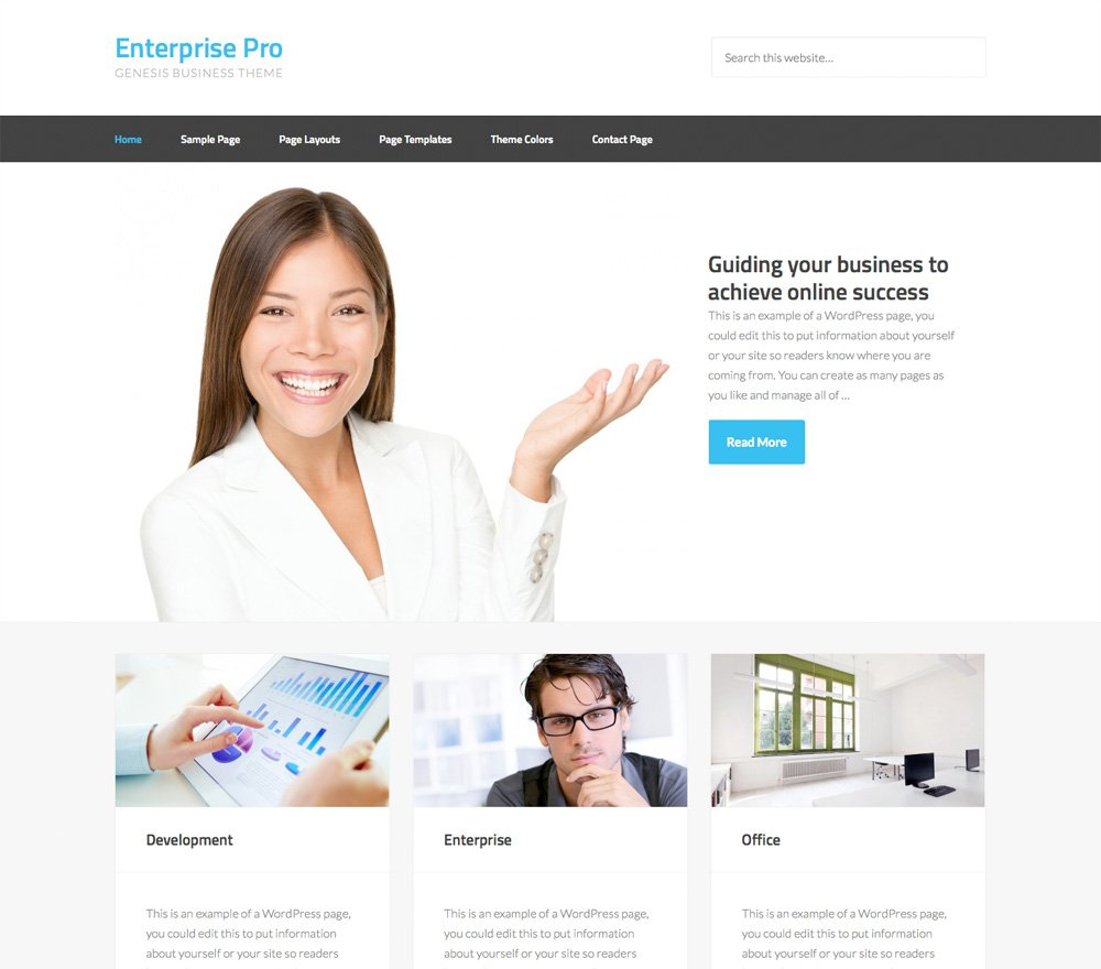 screenshot of the StudioPress Enterprise Pro WordPress theme