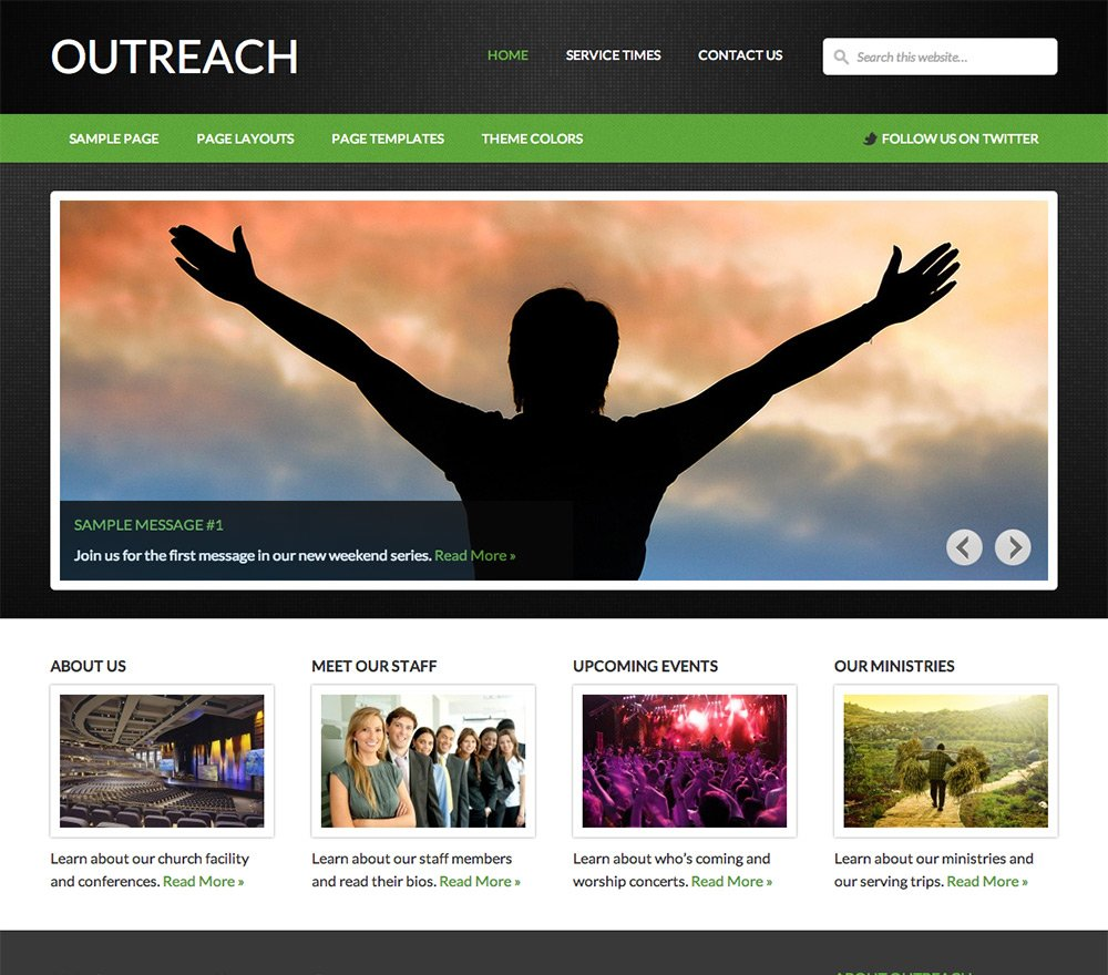 Outreach - Best Nonprofit WordPress Themes