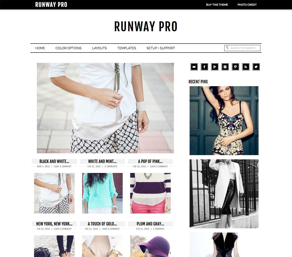 Genesis Child theme third party Runway Pro